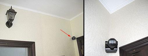 mengapa sensor gerak lebih baik untuk diletakkan di sudut dan tidak di dinding di atas pintu