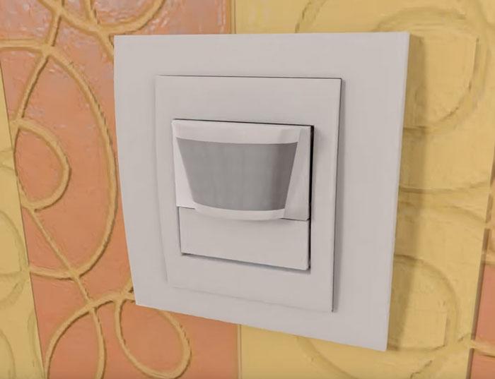 монтаж двухпроводного датчика движения в квартире