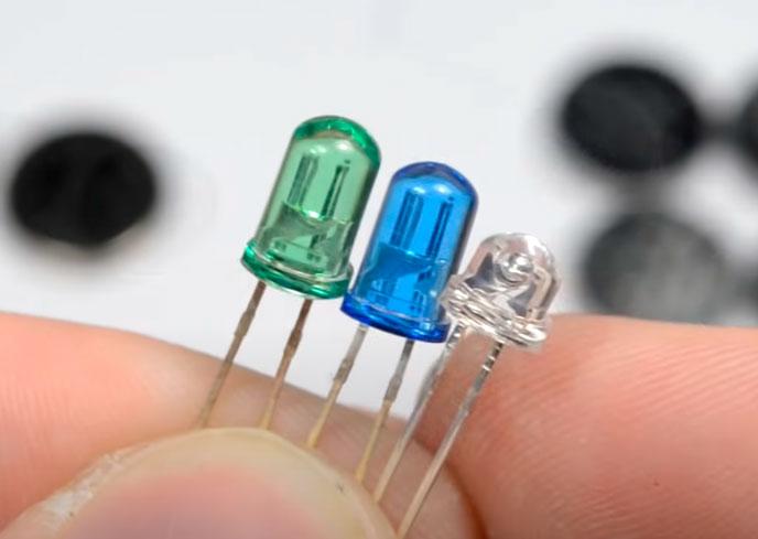 LED όπου συν και μείον