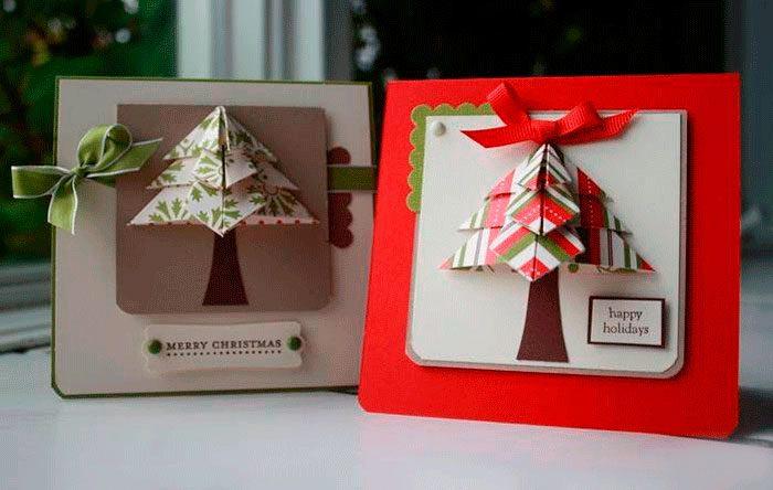 Christmas Card Origami Church.