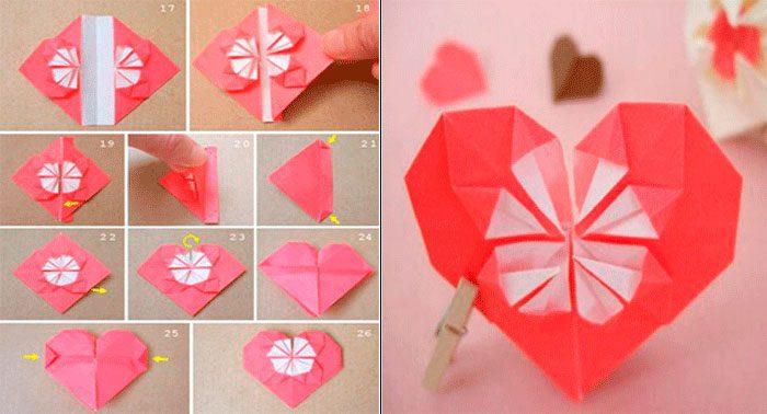 сердце оригами мастер-класс