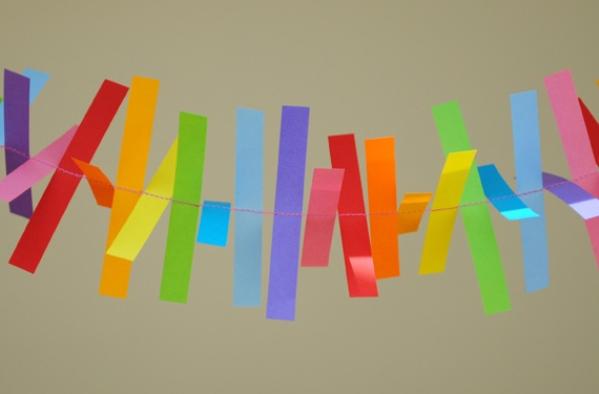 гирлянды из бумаги на новый год