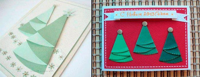 کارت کریسمس با درخت کریسمس دستمال کاغذی