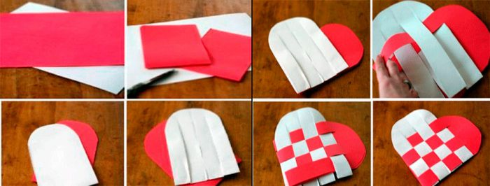Плетёное сердце из бумаги мастер-класс