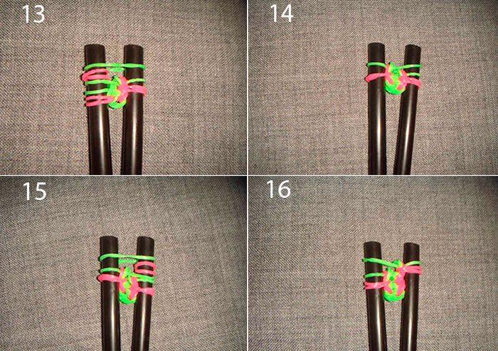 Bracelet Sermes Sirènes de Système de tissage de classe de master en caoutchouc