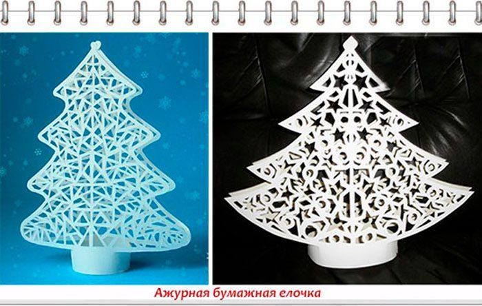 Albero di Natale di carta openwork