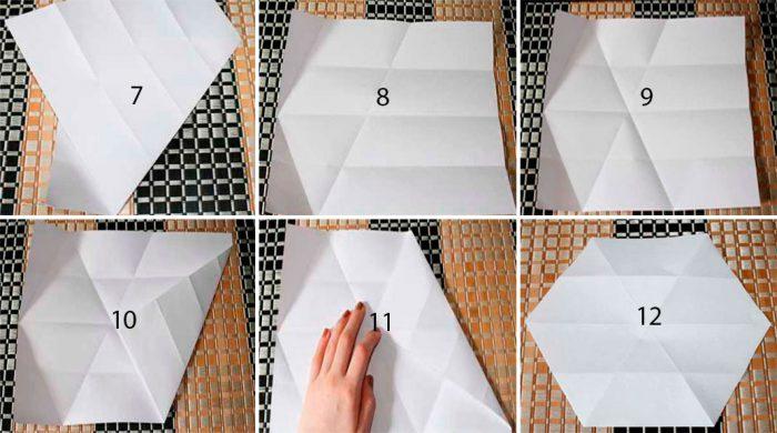 在折纸大师班上的雪花