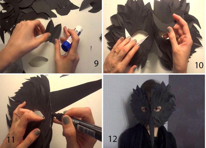 """Masque """"Noir Raven"""" de Paper Master Class"""