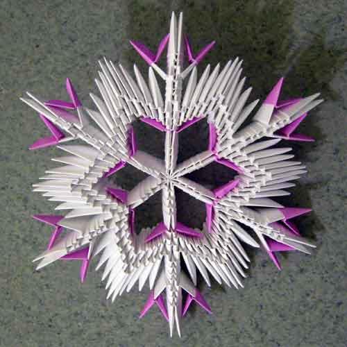 Snowflake dalam teknik origami modular