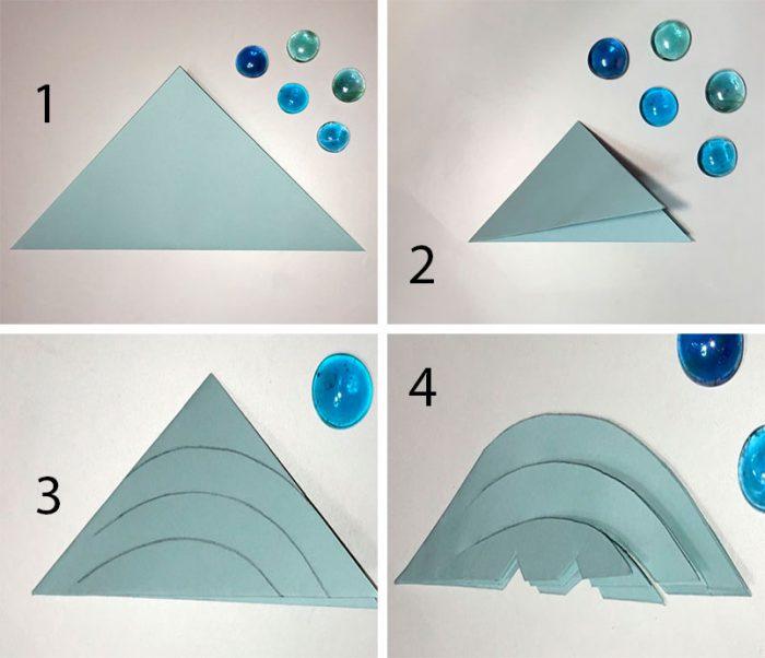 Snowflake lengkap yang diperbuat daripada kelas induk kertas