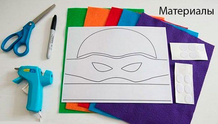 Masker Turtle - Ninja