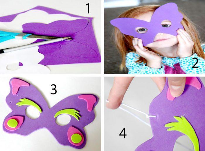 A gyerekek maszkjai ezt magadnak, lépésenkénti mesterosztályok