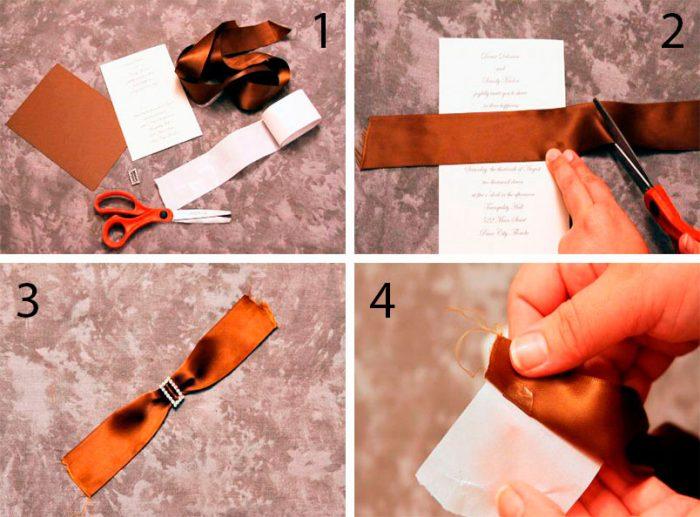 Stilvolle Hochzeits-Einladung Schritt-für-Schritt-Master-Klasse