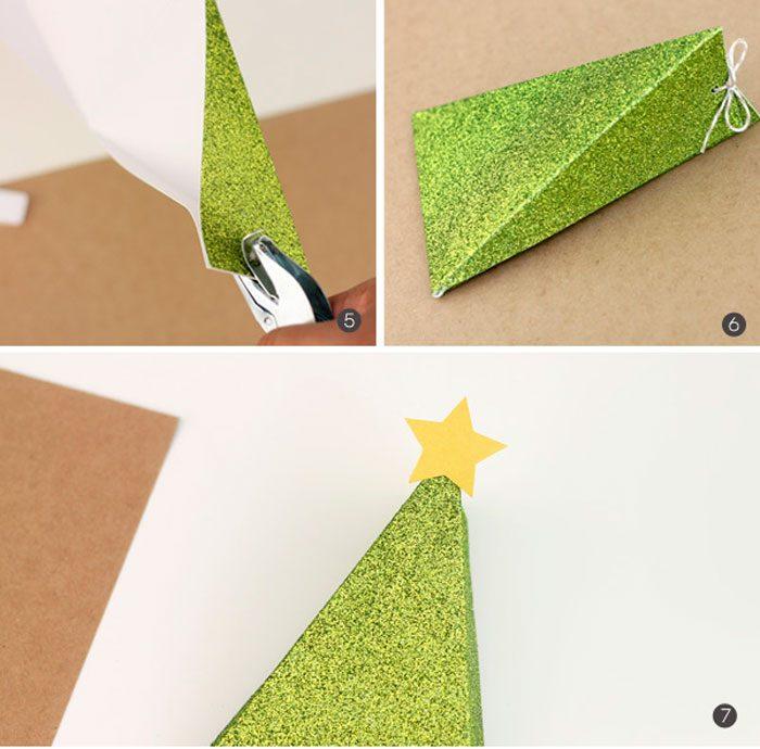 Caja de árbol de Navidad paso a paso
