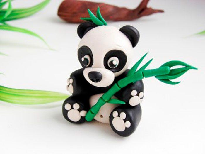 Panda plasticine.