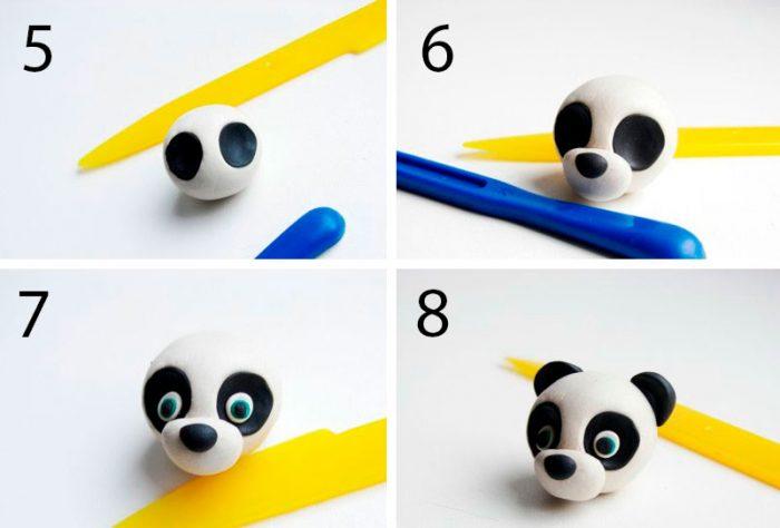 Пластилинді мастер-класстағы панда