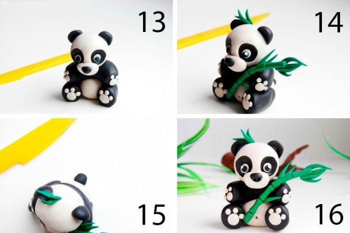 Лепим Панда пластилиннен