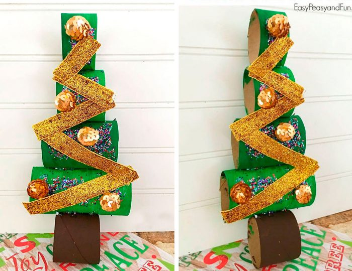 Juletræ lavet af bøsninger