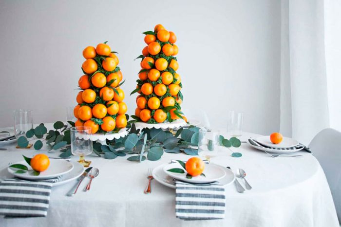 Tangerine Christmas tree