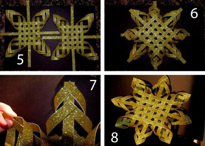 Estrela na árvore de Natal com suas próprias mãos: 5 idéias criativas