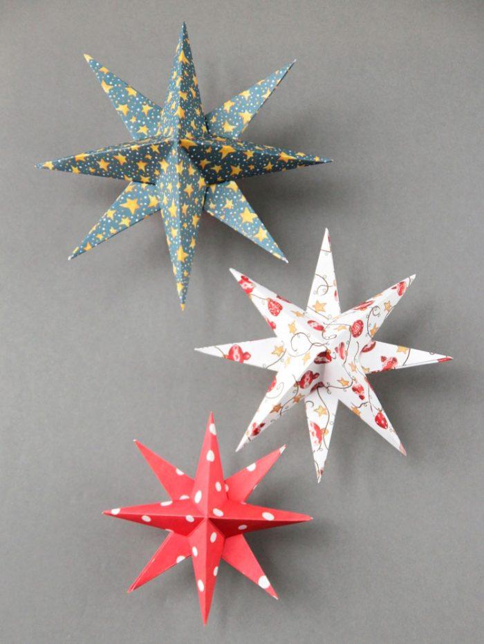 * Quanto maior a área da parte central da estrela, mais fácil alcançará o efeito de 3D.