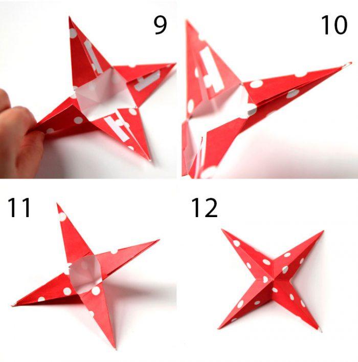 در عکس نشان داده شده - ستاره های فله از کاغذ. آماده سازی تعطیلات در خانه، شکل. ستاره هایی مانند IKEA 1