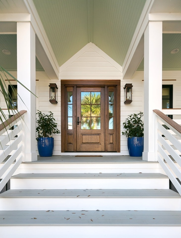 Front Porch Design Featured In Charleston Home Design Magazine | House Design With Stairs In Front | Victorian | Second Floor | Colour | Residential | Low Cost 2 Bhk House