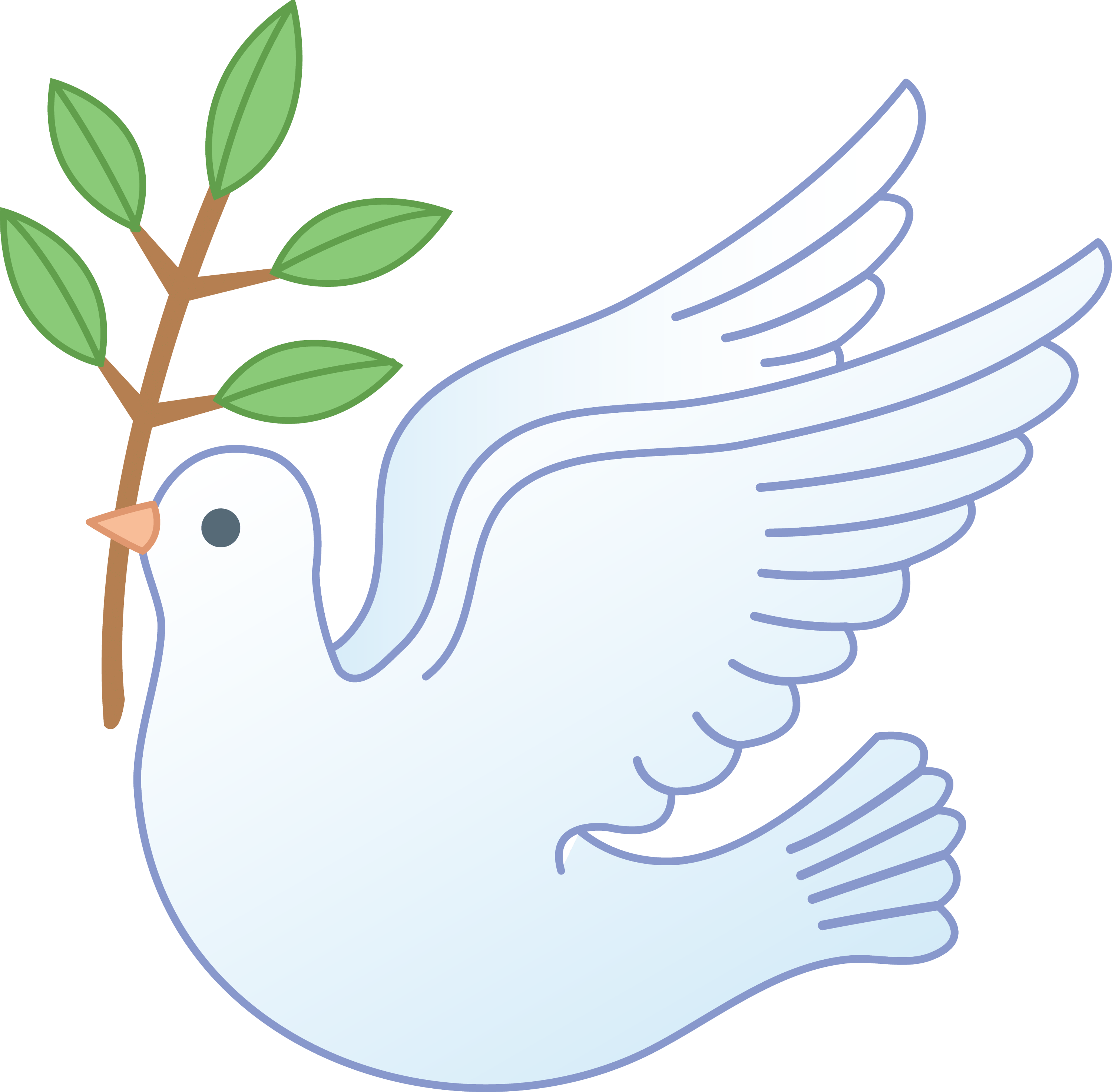 Dove Earth Cross Bible And And Art Clip