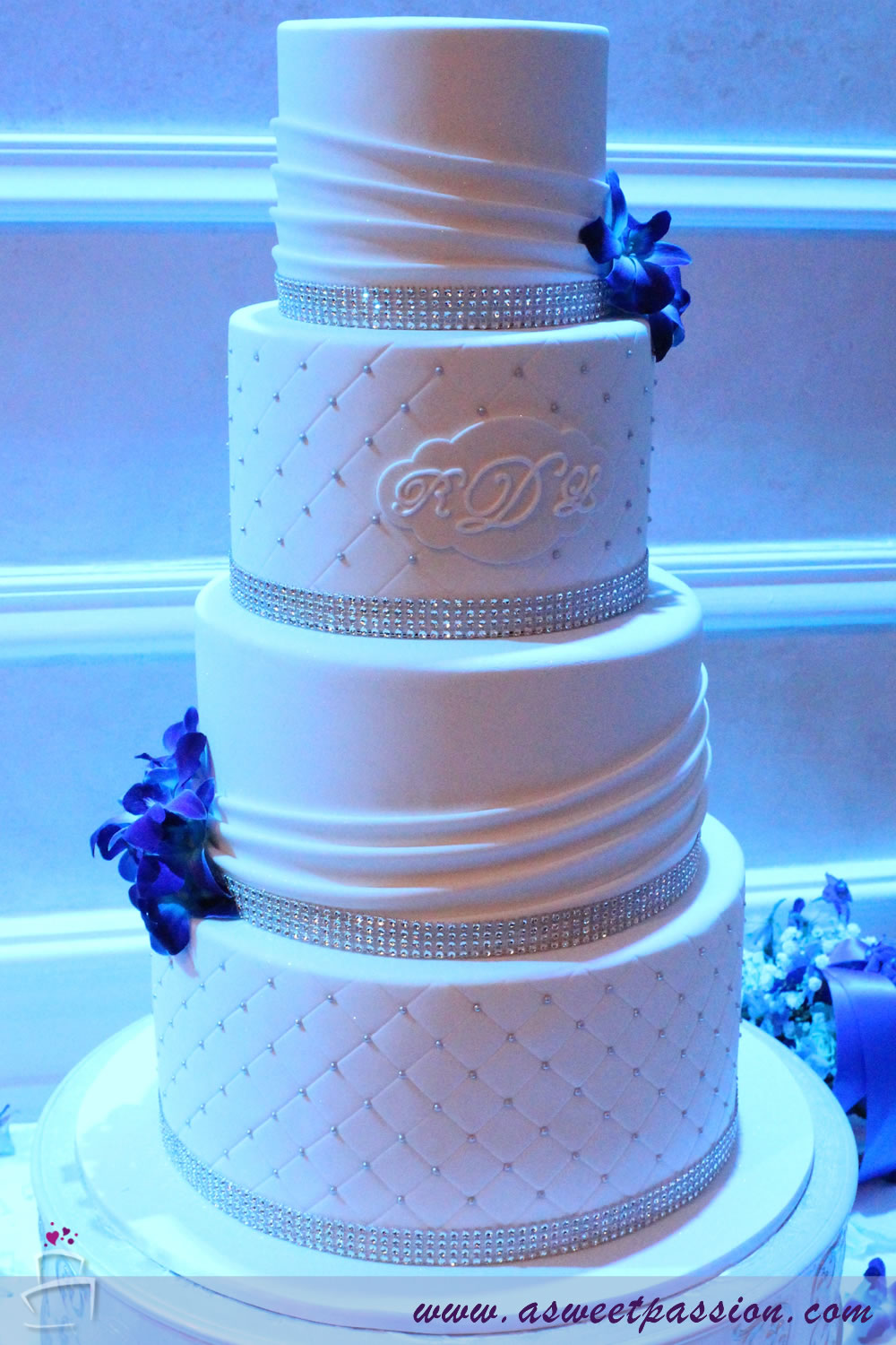 White Bling Wedding Cake     Sweet Passion Cakery White Bling Wedding Cake
