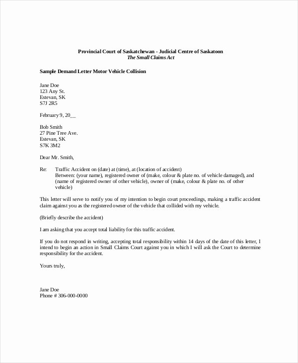 30 Letter Of Demand Template Example Document Template