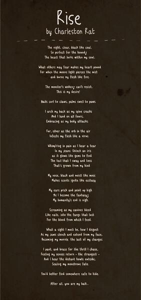 Rise Werewolf Transformation Poem By Charlestonrat