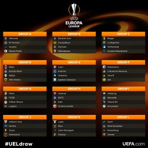 here are the groups of the europa league 2017 18 besoccer