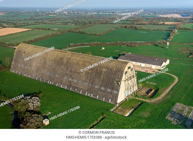 Airship hangar Stock Photos and Images   age fotostock France  Manche  Ecausseville  former airship hangar  built by the Marine  Nationale during