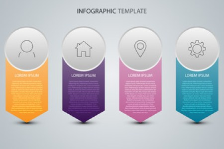 Timeline photos  royalty free images  graphics  vectors   videos     Business data with abstract elements of graph  Vector template for  presentation  Creative concept for