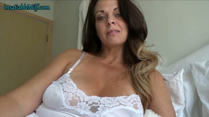 Diane Andrews – Clingy White Slip