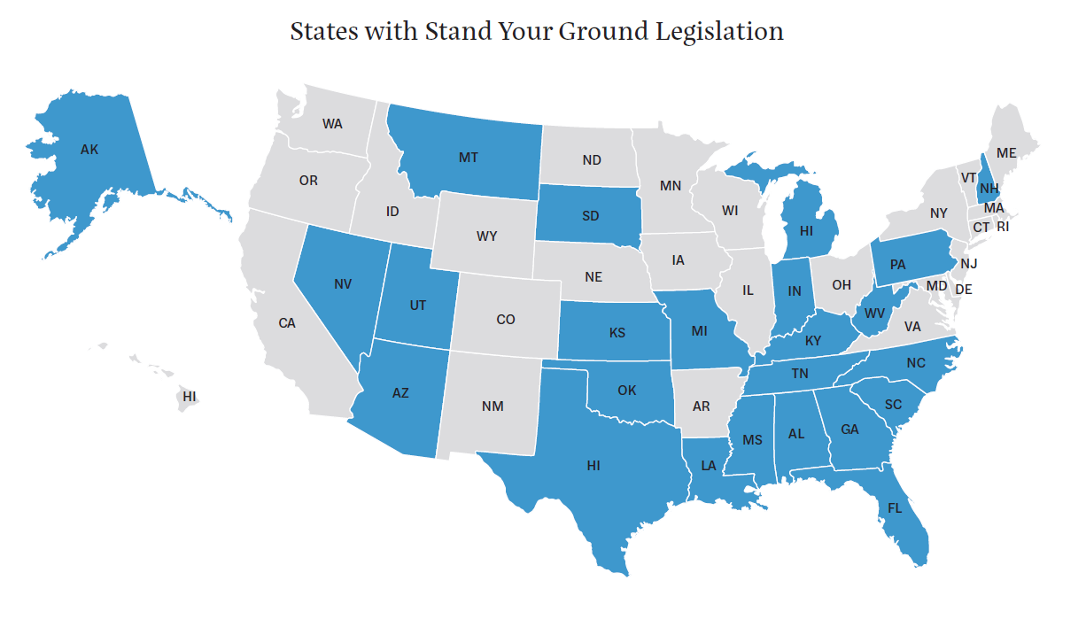 Stand Your Ground Law States Map