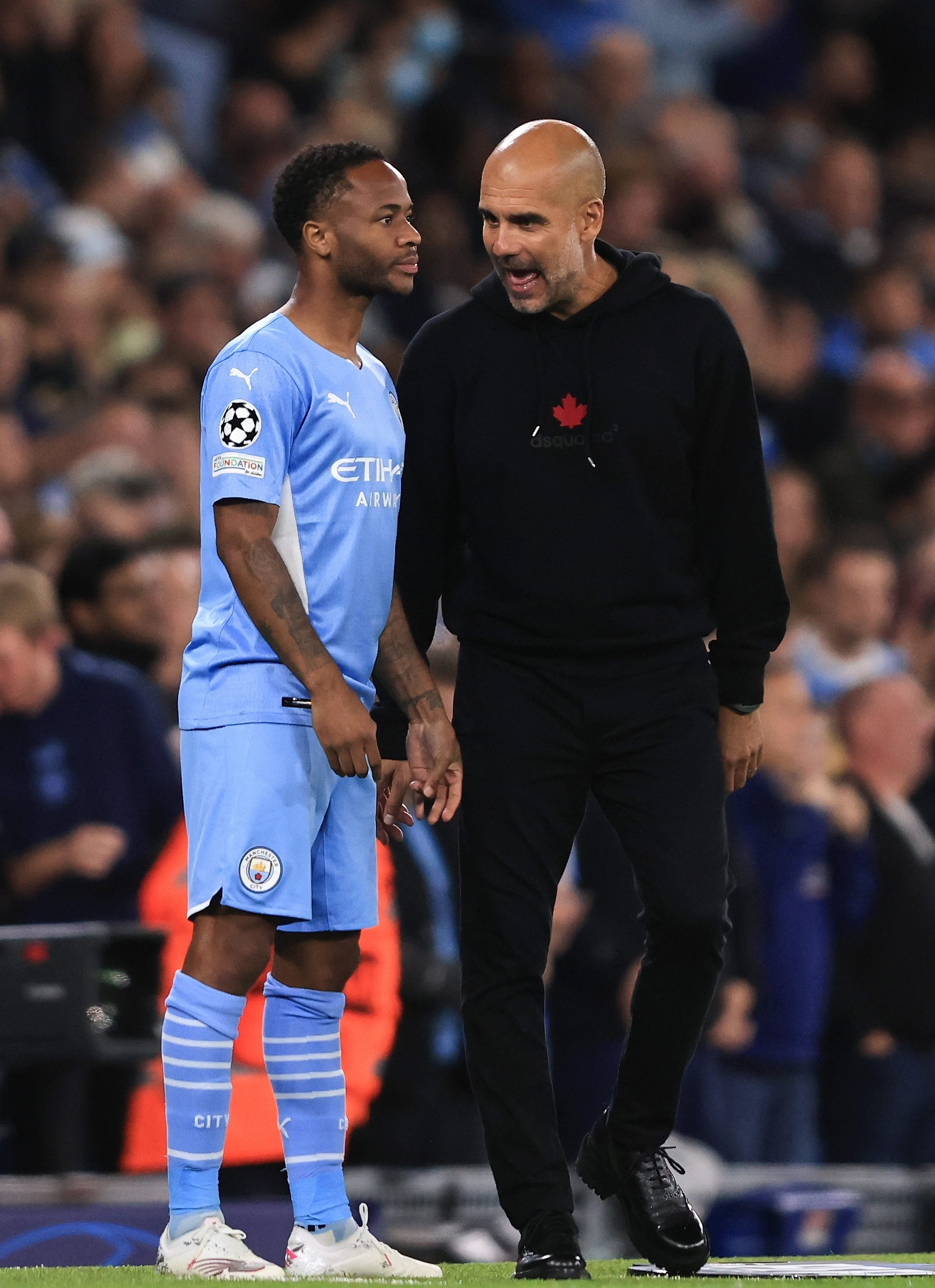 Sterling is facing an uncertain future at Man City over his lack of game time under Guardiola