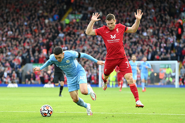 Foden appealed for a first-half penalty after running rings round Milner
