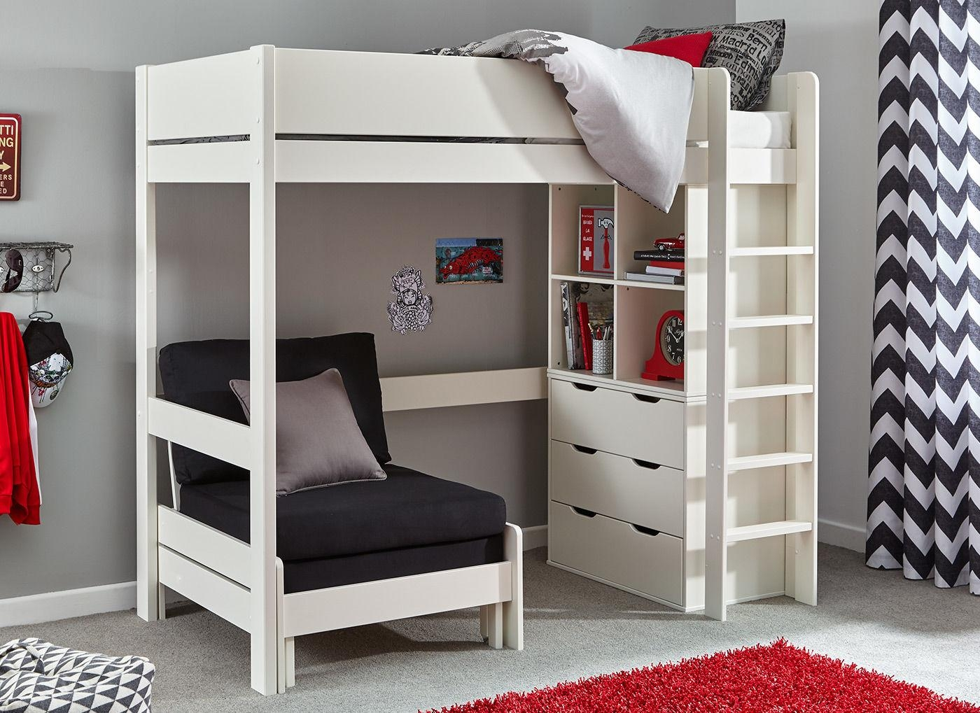 High Sleeper Bed With Desk And Sofa Elegant High Sleeper