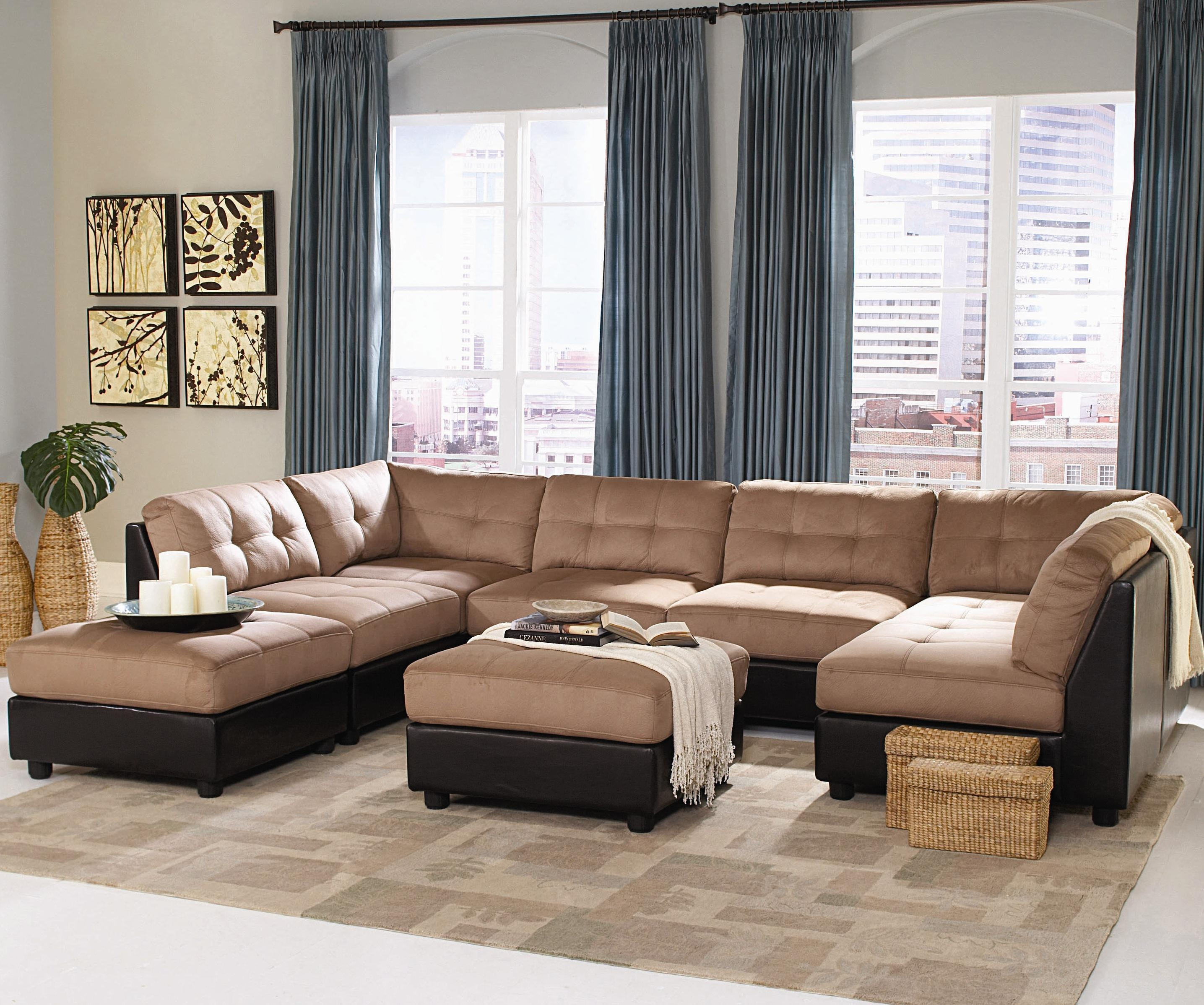 Ashley Furniture Gray Leather Sectional