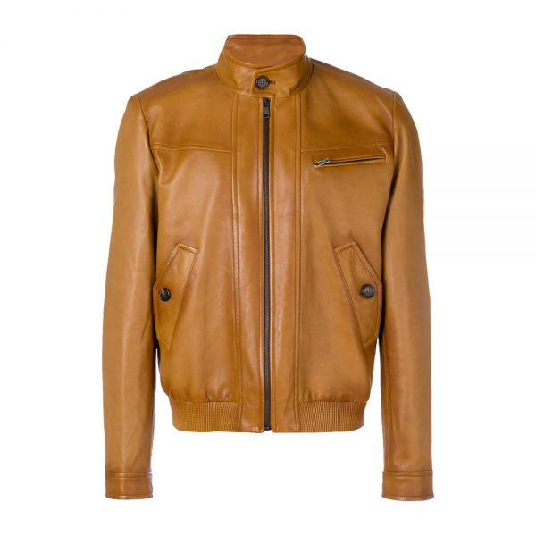 Brown Leather Fashion Jackets for Men