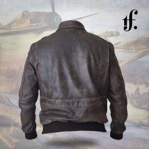 Mens Bomber A2 Aviator Pilot Leather Jacket