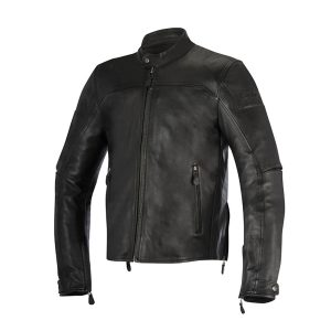 Black Stylish Leather Motorcycle Jacket