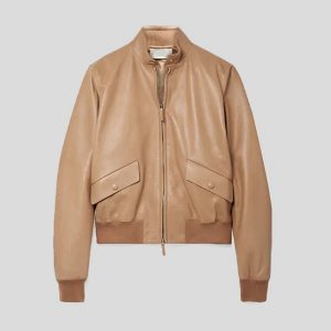 Permuim Quality leather bomber jacket