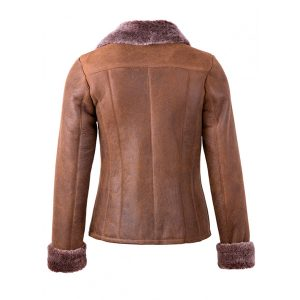 Rusty Tan Gillian Style Women Leather Jacket