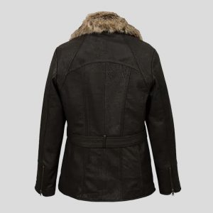 Women's Black Shearling Leather Jackets