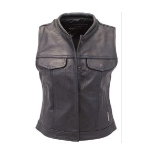 Women's Long Leather CCW Club Vest