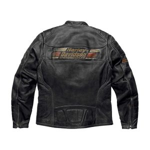 MEN'S HARLEY DAVIDSON ASTOR PATCHES DISTRESSED LEATHER JACKET