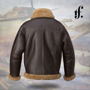 Men's Shearling Real Leather Bomber Jacket