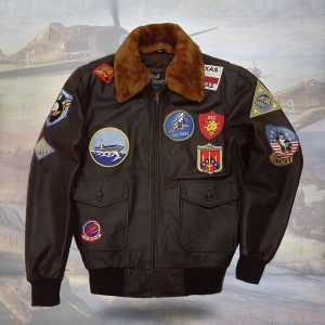 Top Gun Maverick Tom Cruise Leather Bomber Jacket